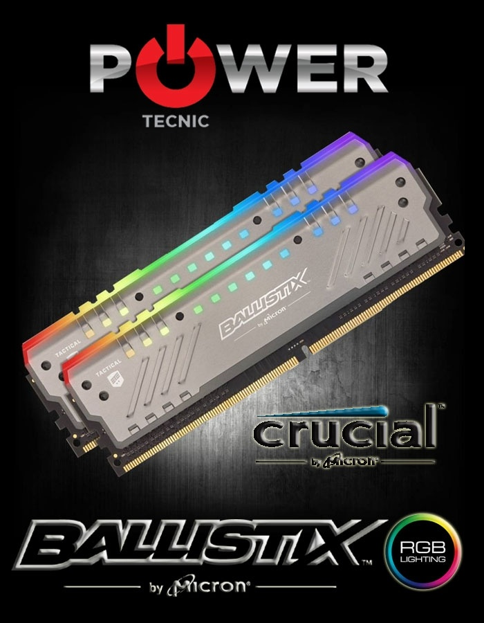 Memorias Crucial Ballistix DDR4 KIT 16Gb 3000Mhz RGB | Power Tecnic | Armá tu PC Gamer